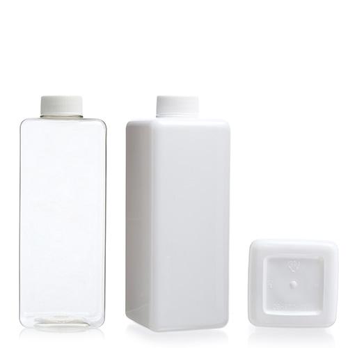 ボトル「化粧品容器」ネジキャップ T800 四角 (105個)