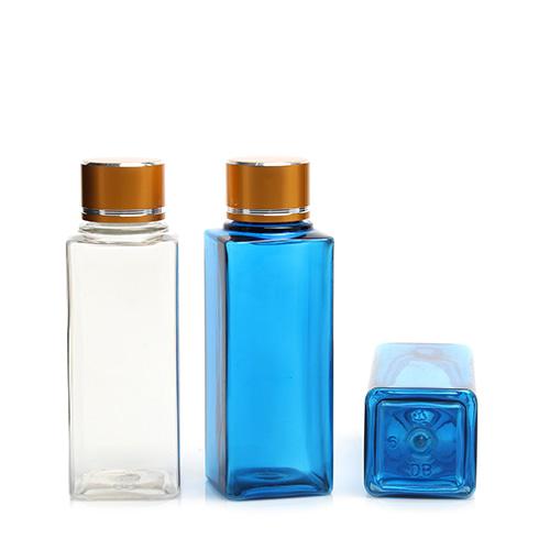 ボトル「化粧品容器」金属ネジキャップ T60 四角 (640個)