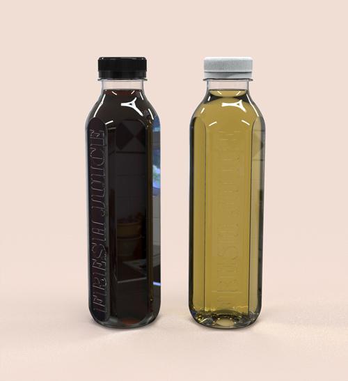 ボトルに直接刻印の金型でボトルを作る。